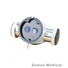 Dublu beam splitter cu extender pentru microscop